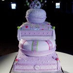 Sculpted Wedding Cake in Shades of Lavender