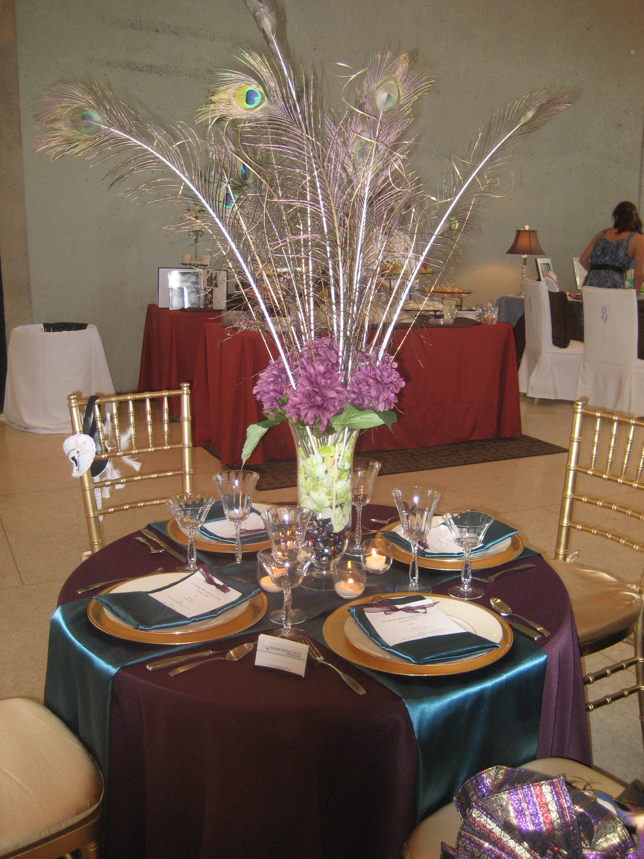 Richly colored table top ideas wedding dish Best table decoration ideas