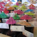 Festive Umbrella Escort Cards