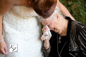 Tender moment with bride and her Grandmother