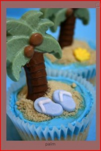 Cupcake for Beach Wedding