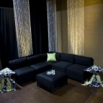 Custom Lounge in Black and Apple Green