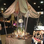 Table top Display at a Recent Bridal Show