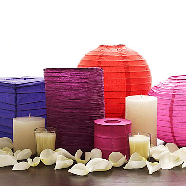 Easy DIY Centerpiece using paper lanterns Source