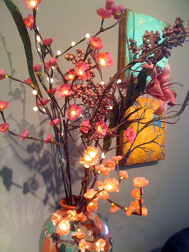 Lighted Branches for centerpieces