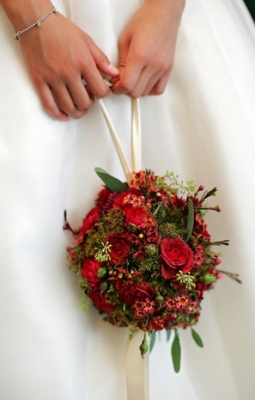 Woodaie casual pomander Pomander Bridal Bouquets with a Twist