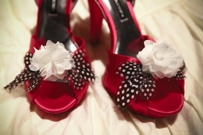 abby miller shoes final Fun Feathers for Your Wedding