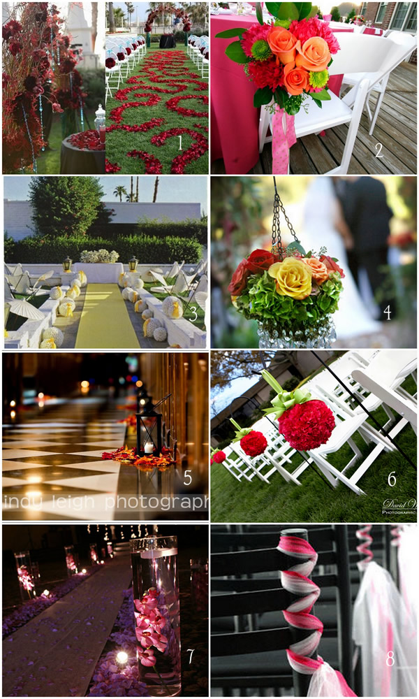 aisle decor collage