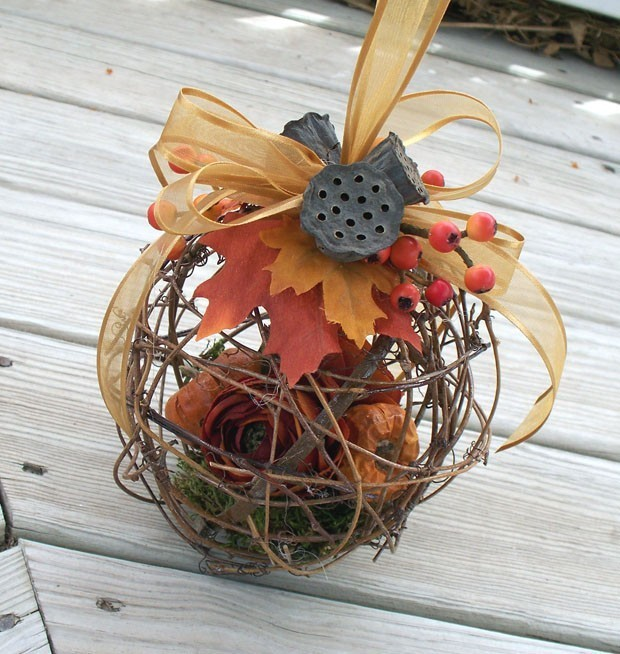 branch cage pomander Pomander Bridal Bouquets with a Twist
