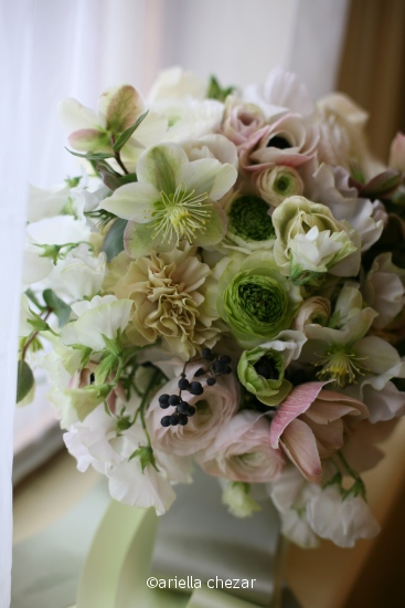 Pale pink & green bouquet