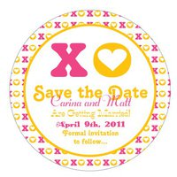 Hugs and Kisses Save the Date