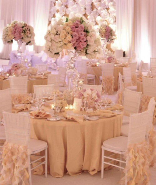 Peach Gold And White Wedding Decor Kuwait Welcome To Our