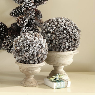 Pine Cone Topiary Winter Wedding Decor From Rustic to Bling