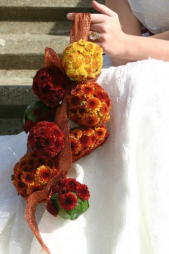 multiple pomander bouquet in fall colors 5 Out of the Ordinary Wedding Bouquets