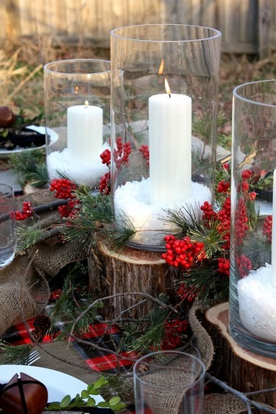 rustic winter decor Winter Wedding Decor From Rustic to Bling