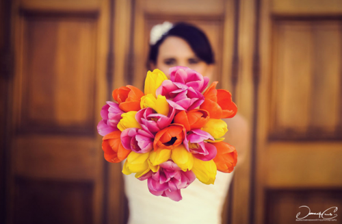 yellow and orange e1354632366829 Sunshine in Your Hands: Sunny Yellow Wedding Bouquets