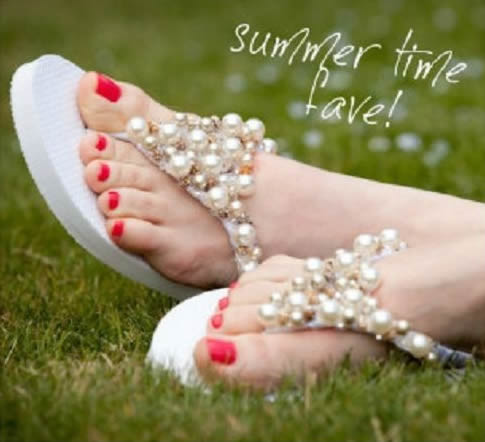 DIY beaded flip flops1 5 Really Cute, Totally Do able DIY Wedding Projects
